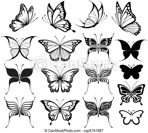 papillon, clipart - csp5741987