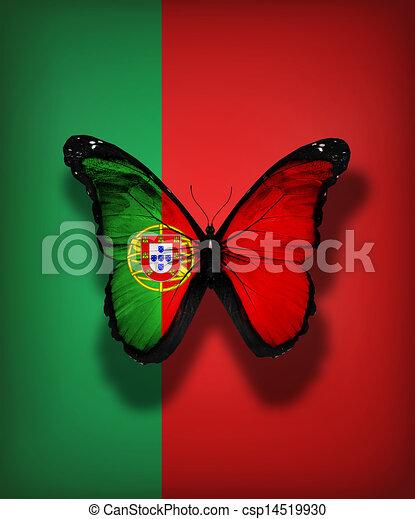 Papillon drapeau portugal drapeau fond isol portugal papillon - Dessin drapeau portugal ...