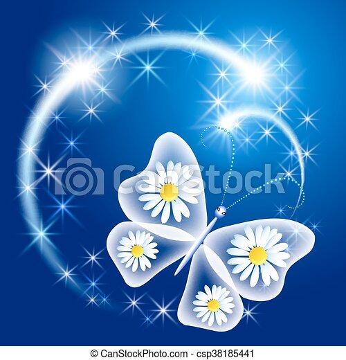 papillon, glühen, firework - csp38185441