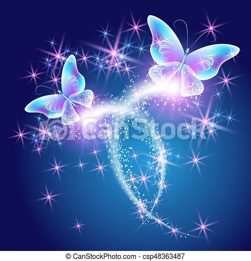 papillon, glühen, firework - csp48363487