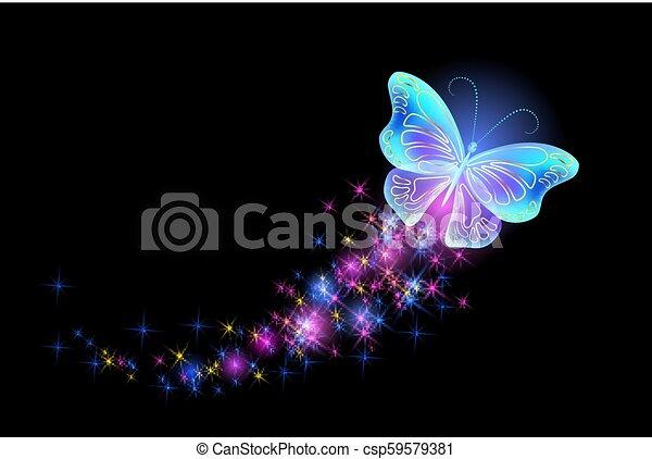 papillon, glühen, firework - csp59579381