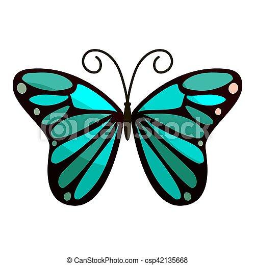 papillon icne clair style dessin anim csp42135668 - Papillon Dessin
