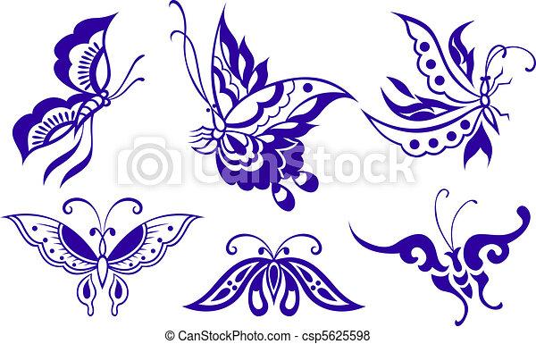 papillon, illustration - csp5625598