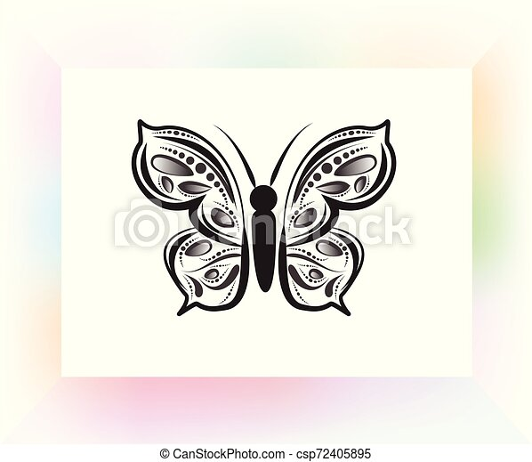 Papillon Mandala Art Papillon Art Image Vecteur Conception Gabarit Logo Mandala Canstock