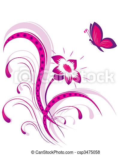 Papillon Modèle Fleur