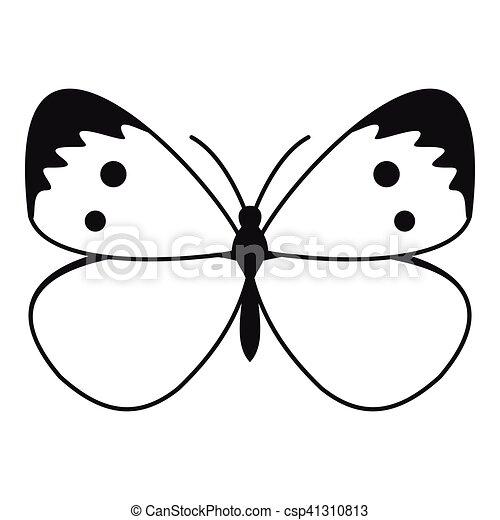 Aile De Papillon Dessin papillon, style, simple, modèle, icône, ailes. papillon, toile