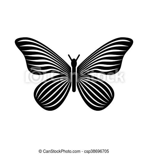 Aile De Papillon Dessin papillon, style, simple, raies, icône, ailes. papillon, style