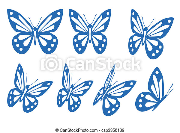 papillons, ensemble - csp3358139