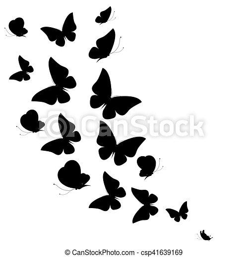 papillons noir blanc clip art vectoriel rechercher des dessins et des images graphiques. Black Bedroom Furniture Sets. Home Design Ideas