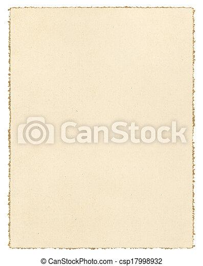 papper, årgång, deckled - csp17998932