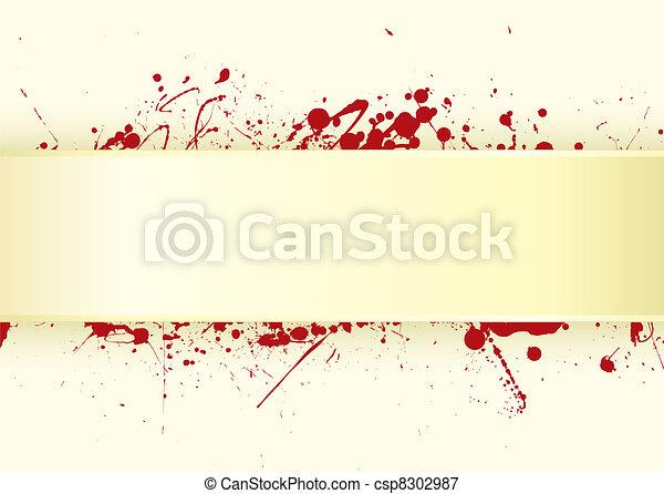 papper, blod, flik, splat - csp8302987