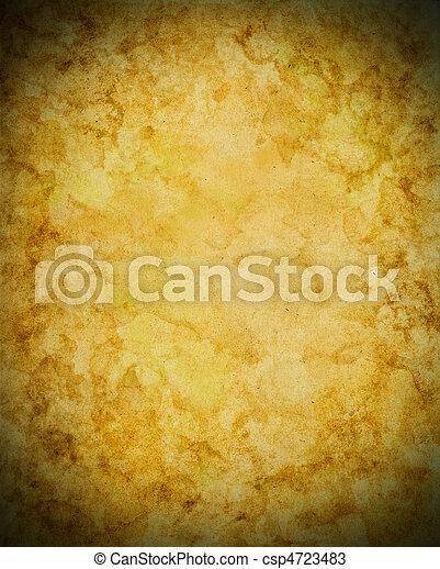 papper, gammal, vinjett - csp4723483