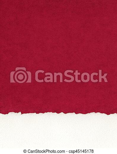 papper, gräns, deckled, röd - csp45145178
