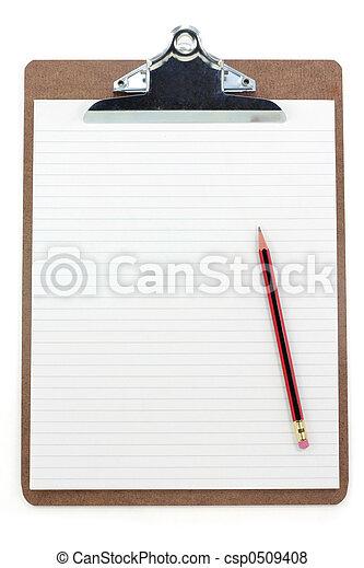 papper, skrivplatta, fodra - csp0509408