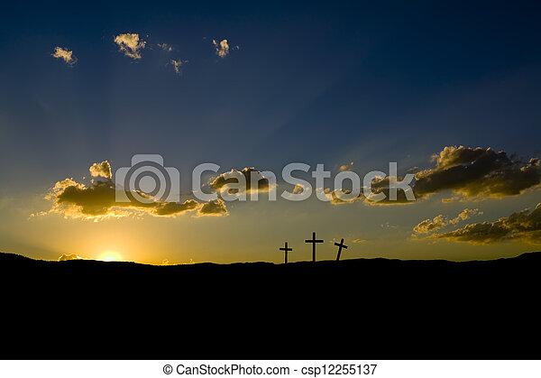 paques, levers de soleil - csp12255137