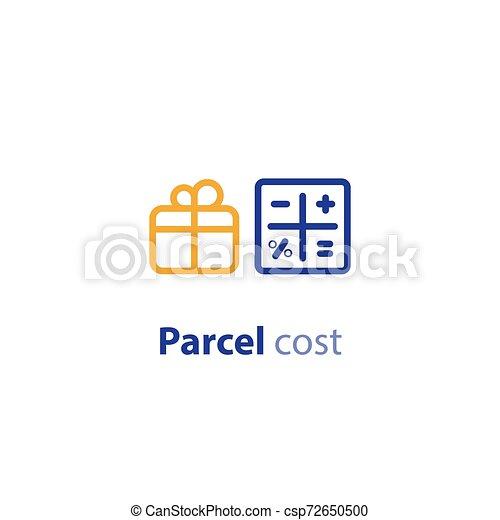 paquet, calcul, options, expédition, cout, services, expédition - csp72650500