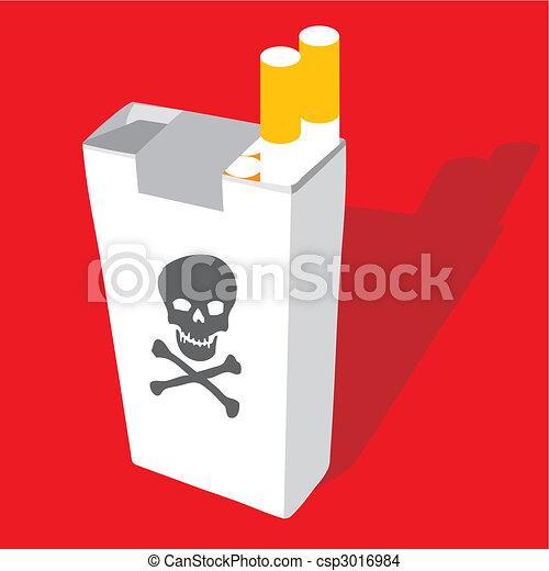 Dessin Paquet De Cigarette paquet cigarette. cigarette, vecteur, illustration, meute.