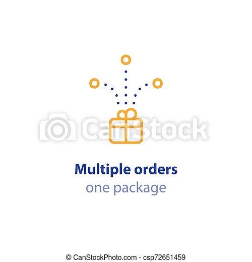 paquet, ordres, expédition, une, services livraison, options, combiné - csp72651459