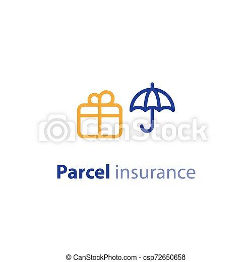paquet, parameters, options, expédition, services, expédition, assurance - csp72650658