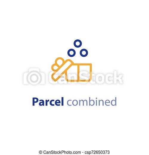 paquet, parameters, options, expédition, combiné, expédition, services - csp72650373