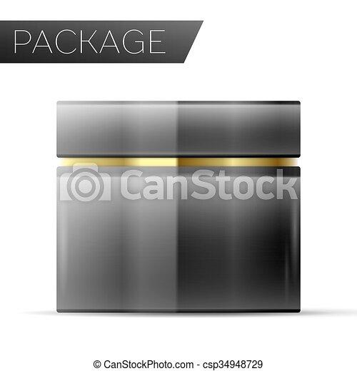 Paquete cosmético para la crema - csp34948729