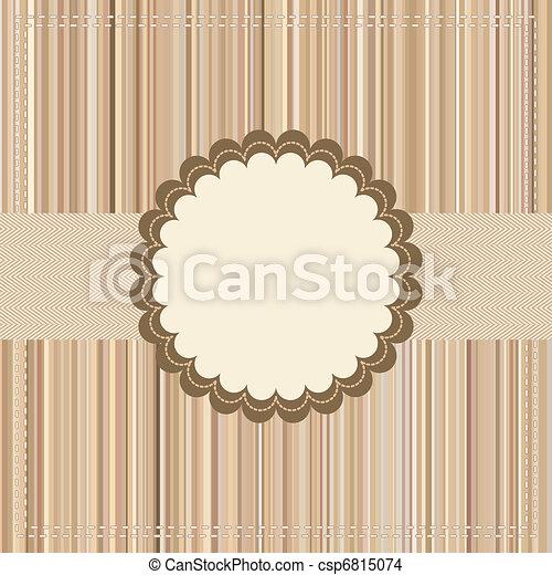 Tarjeta antigua o diseño de paquetes. EPS 8 - csp6815074