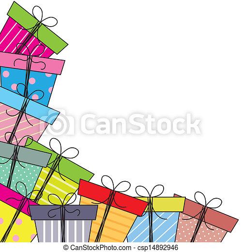 paquets, cadeau - csp14892946
