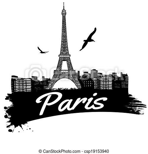 El póster de París - csp19153940
