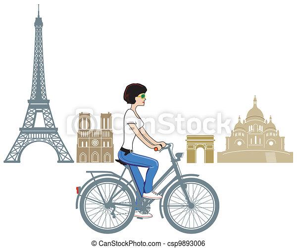 Circulando en París - csp9893006
