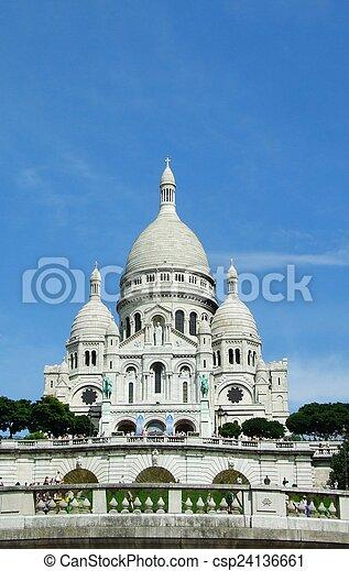 Sacre coeur of paris - csp24136661