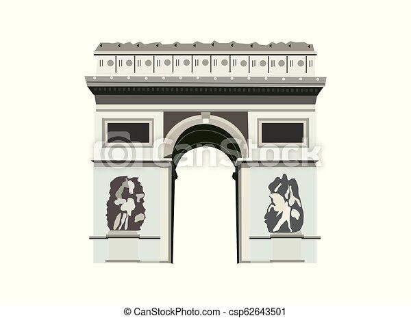 Arco del Triunfo. París - csp62643501