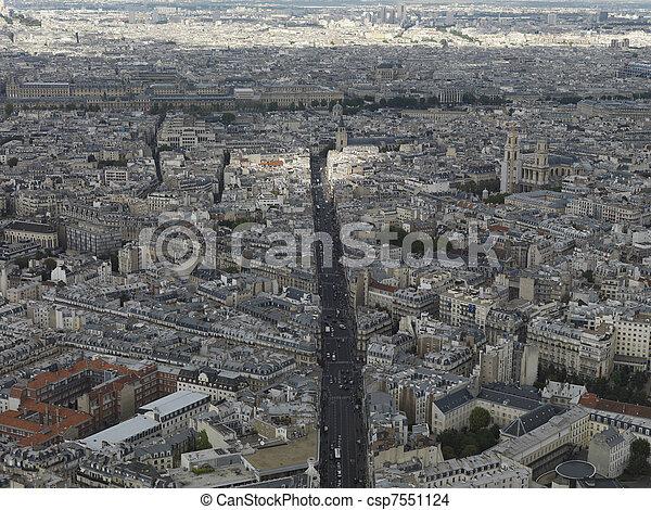Fotos aéreas paris - csp7551124
