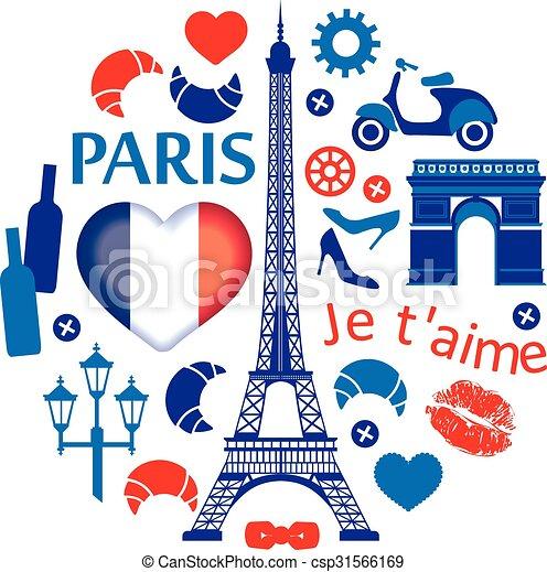 La ilustración de París - csp31566169