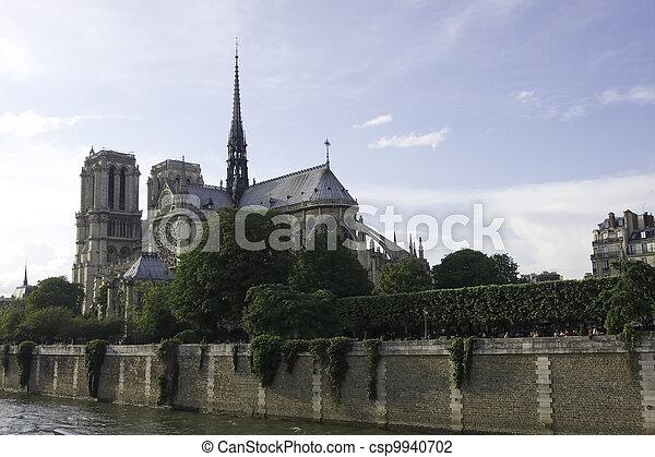 parís, notre dame, francia - csp9940702