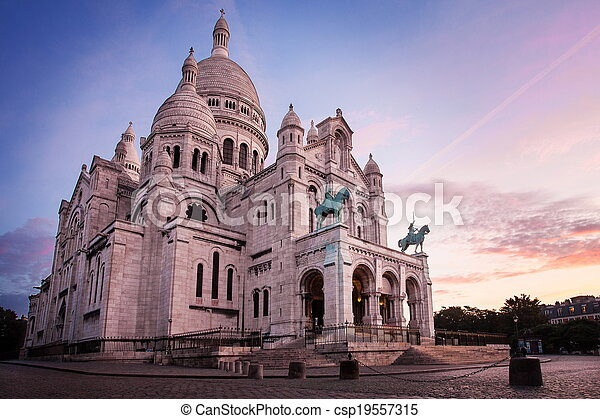 Basilica de sacre coeur, paris - csp19557315