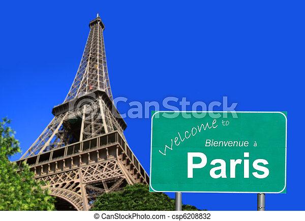 Bienvenidos a la señal de París - csp6208832
