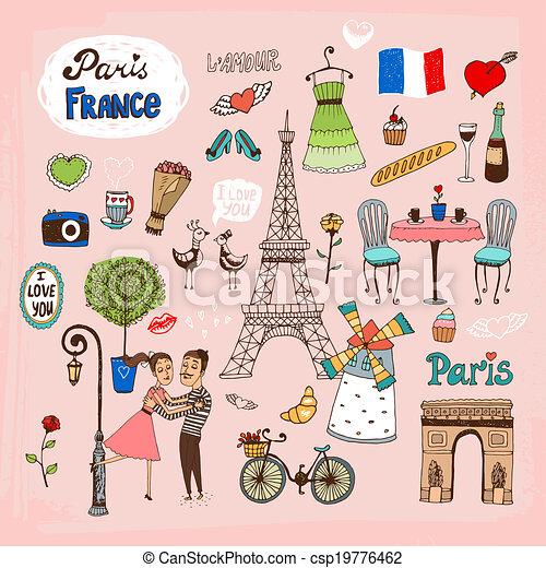 París frances hitos e íconos - csp19776462