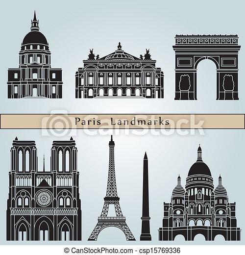 Los monumentos de París - csp15769336