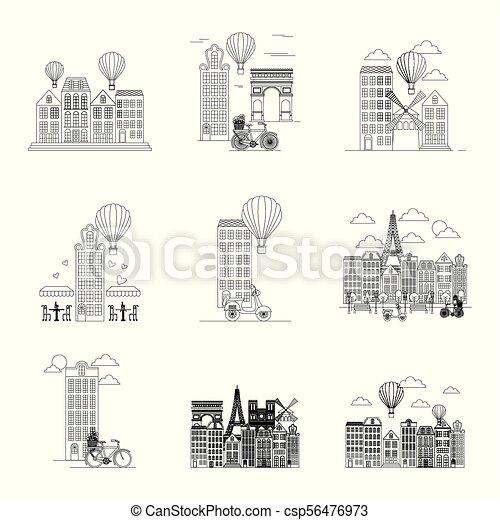 Tarjeta de París de Francia - csp56476973