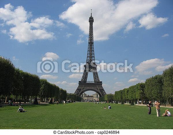 parís, torre eiffel - csp0246894