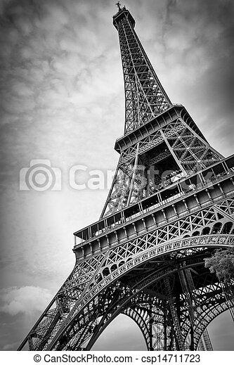 parís, torre, eiffel - csp14711723