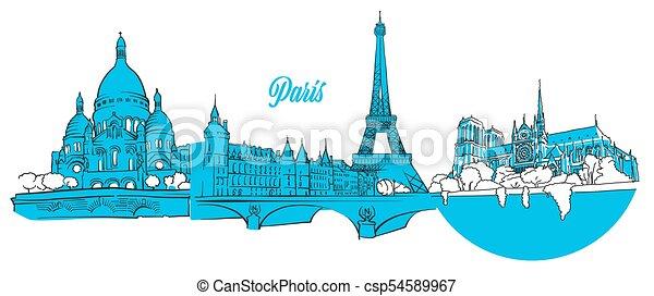 París viaja con estandartes - csp54589967