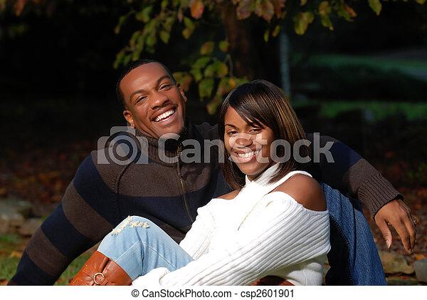par, africano-americano - csp2601901