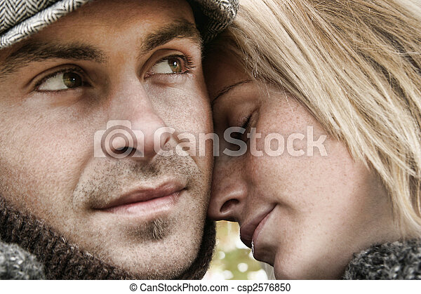 par, amor, jovem, abraçar - csp2576850