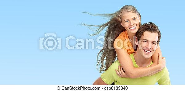 par, amor, jovem - csp6133340