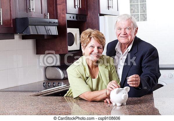 par, avgång, besparing, senior, lycklig - csp9108606