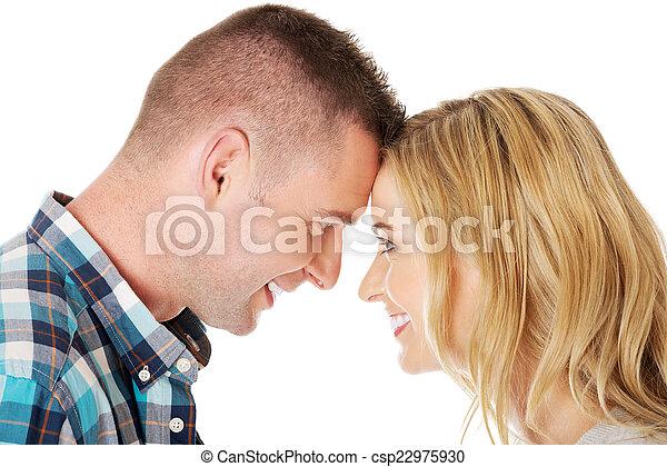 par, contato, olho - csp22975930