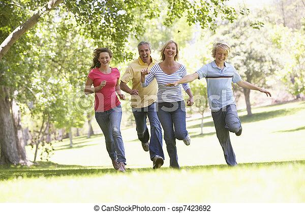 par, courant, parc, famille - csp7423692