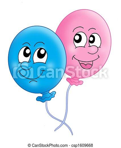 Ilustracin de archivo de par globos  Color ilustracin de