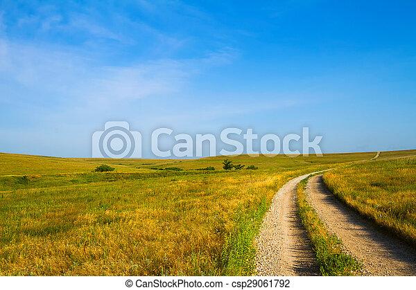 par, gravier, collines silex, route - csp29061792